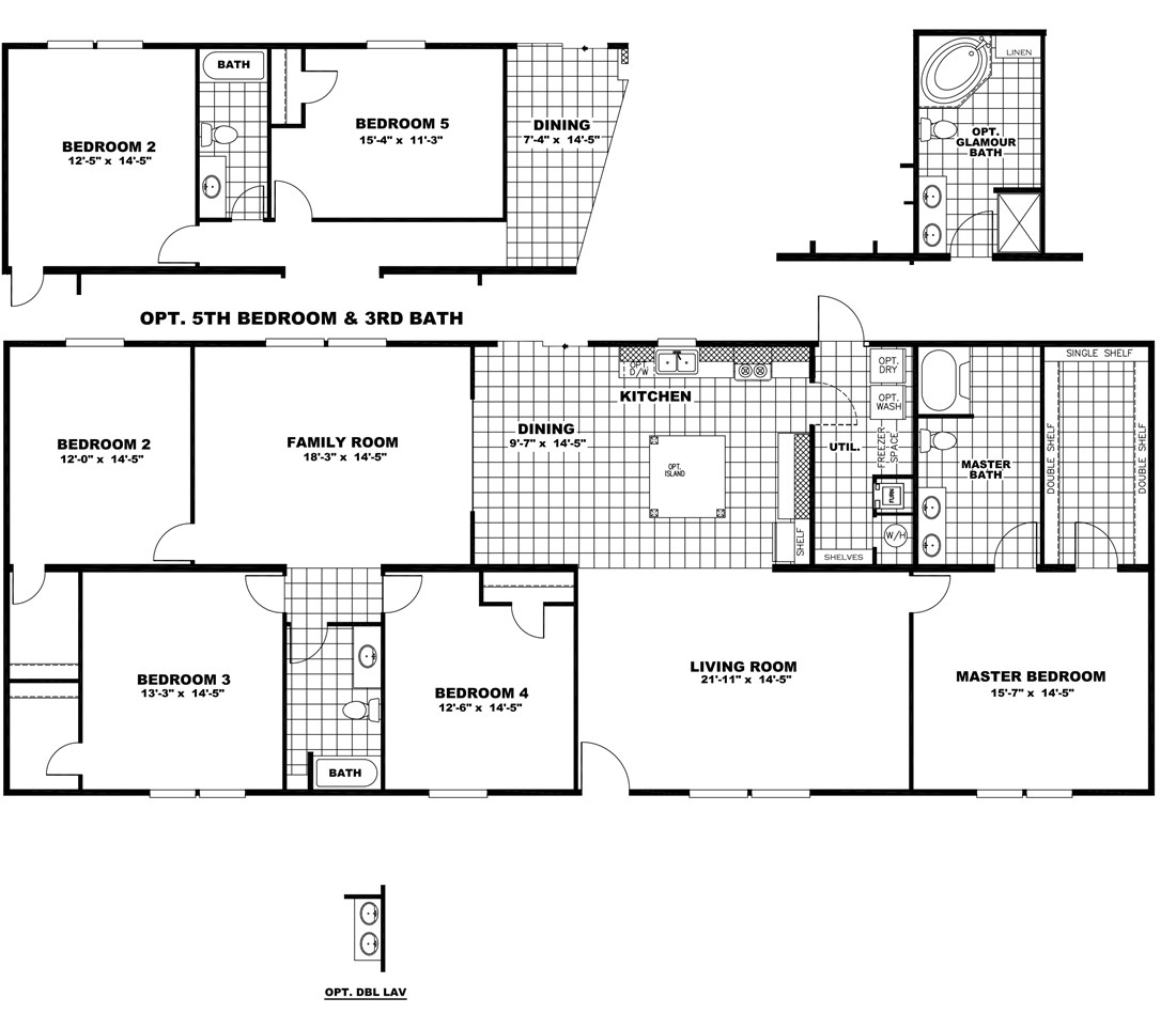 "The NOW32764C ""FISHER KING"" Floor Plan"