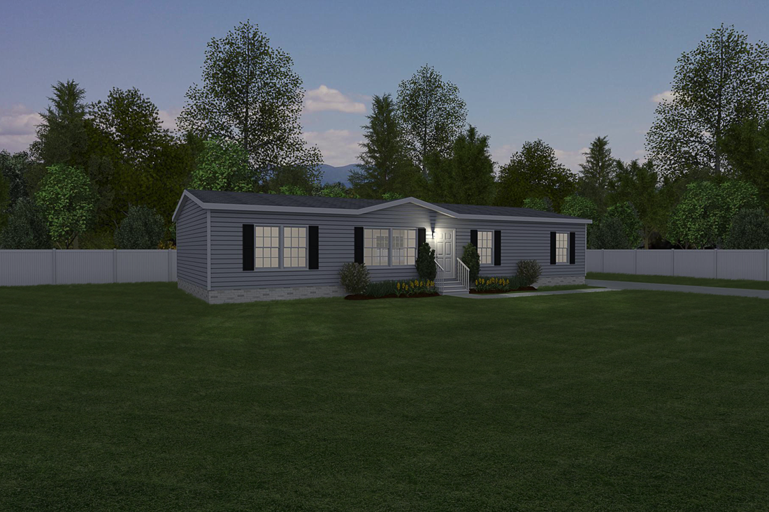 "The NOW28603U ""NOW ULTRA"" Exterior. This Manufactured Mobile Home features 3 bedrooms and 2 baths."