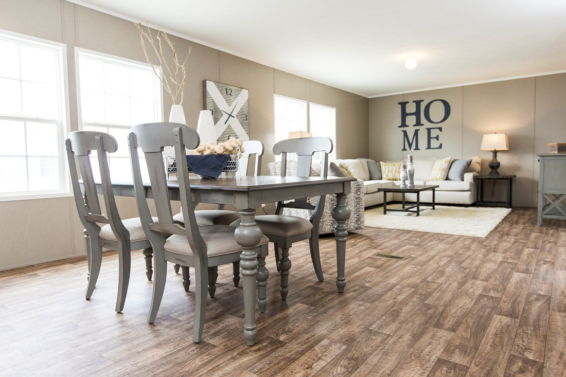 "The NOW28603U ""NOW ULTRA"" Dining Area. This Manufactured Mobile Home features 3 bedrooms and 2 baths."
