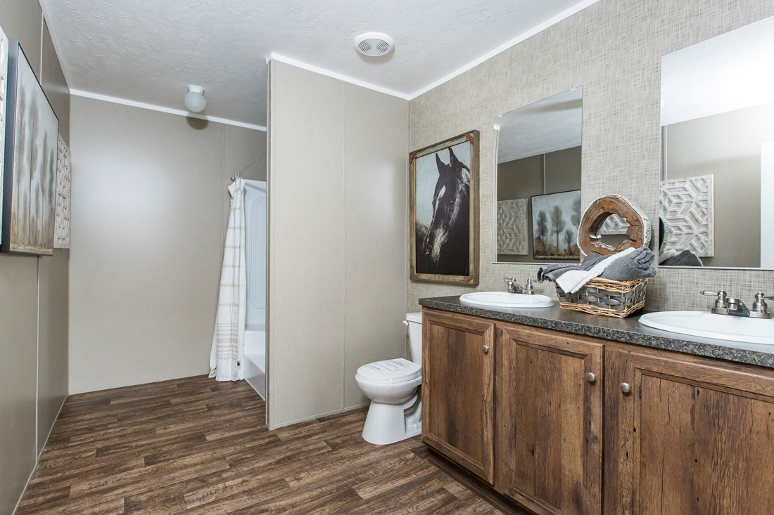 "The NOW28603U ""NOW ULTRA"" Master Bathroom. This Manufactured Mobile Home features 3 bedrooms and 2 baths."