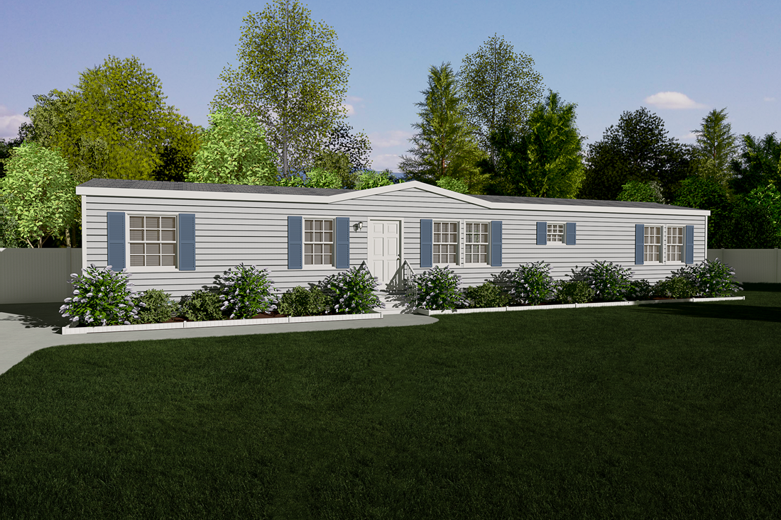 "The EMPIRE ""THE YORK"" Exterior. This Manufactured Mobile Home features 3 bedrooms and 2 baths."