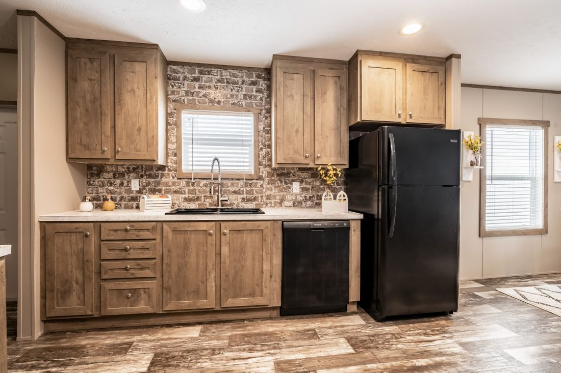 The ULTRA PRO 52 Kitchen. This Manufactured Mobile Home features 3 bedrooms and 2 baths.