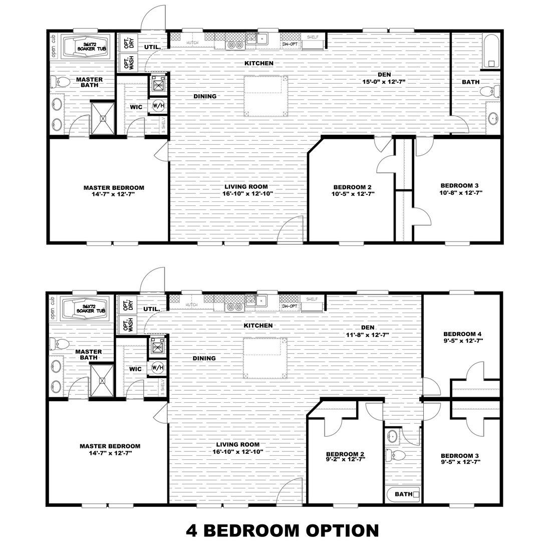 The ULTRA PRO 56B Floor Plan