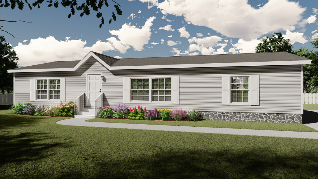 The ULTRA PRO 56A Exterior. This Manufactured Mobile Home features 3 bedrooms and 2 baths.