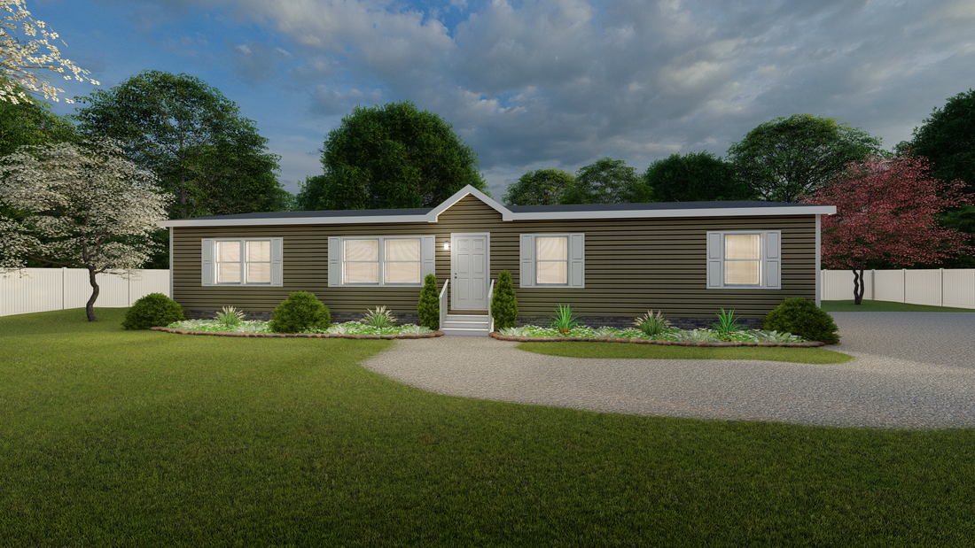 The ULTRA PRO 60 Exterior. This Manufactured Mobile Home features 3 bedrooms and 2 baths.