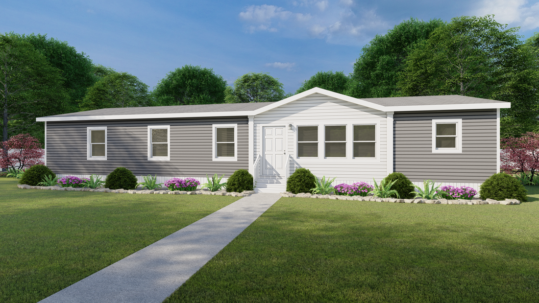 The ISLAND BREEZE 64' Exterior. This Manufactured Mobile Home features 4 bedrooms and 2 baths.
