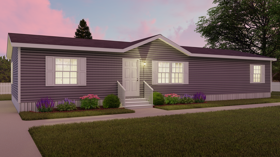 The ELITE THE ANSWER 28X60 Exterior. This Manufactured Mobile Home features 3 bedrooms and 2 baths.
