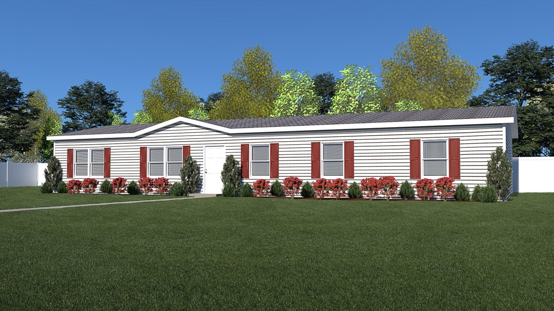 The PHELPS Exterior. This Manufactured Mobile Home features 4 bedrooms and 2 baths.
